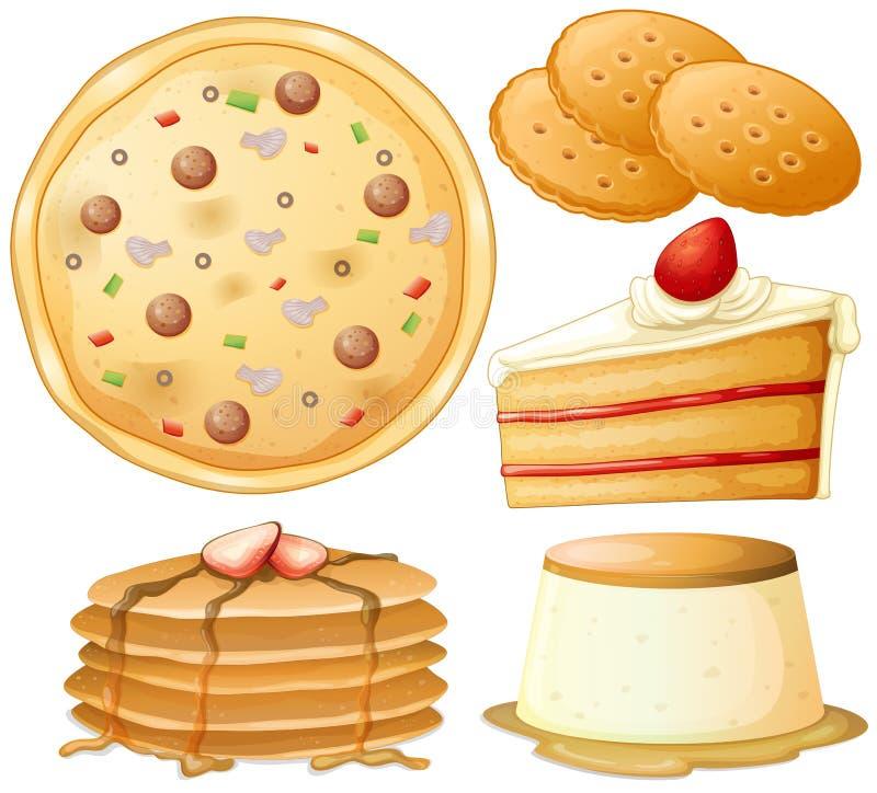 食物和甜点 皇族释放例证