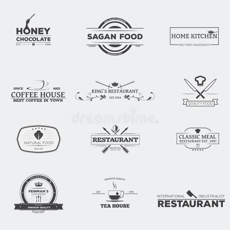 食物和餐馆象征 向量例证