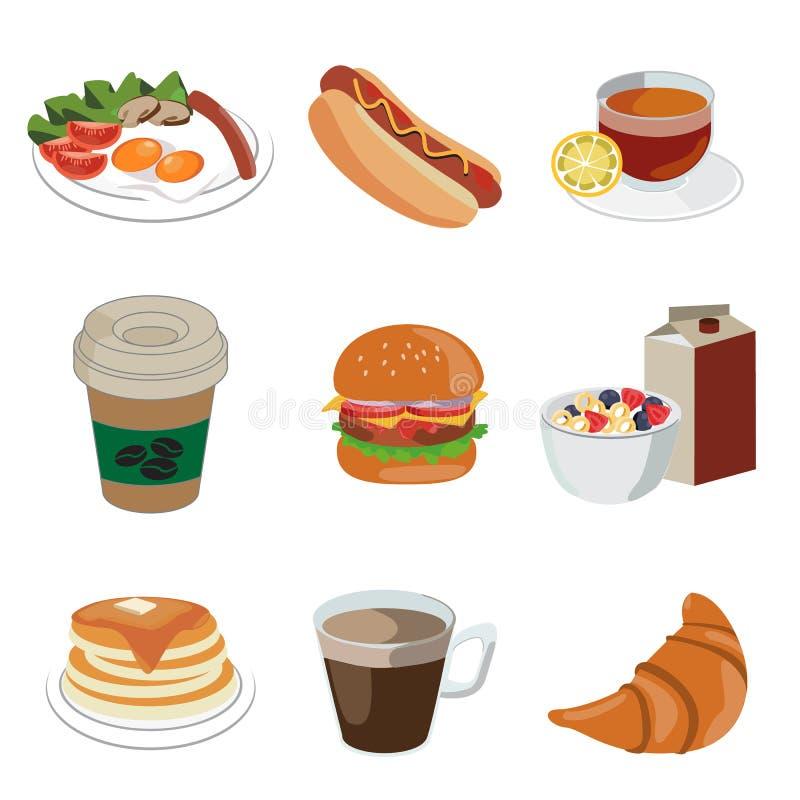 食物和饮料象 库存例证