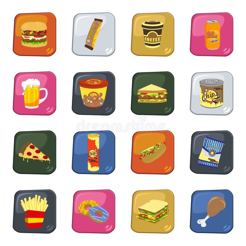 食物和饮料集合 向量例证