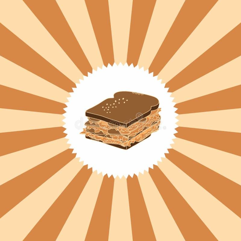 食物和饮料题材三明治 皇族释放例证