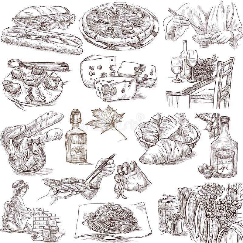 食物和饮料 向量例证