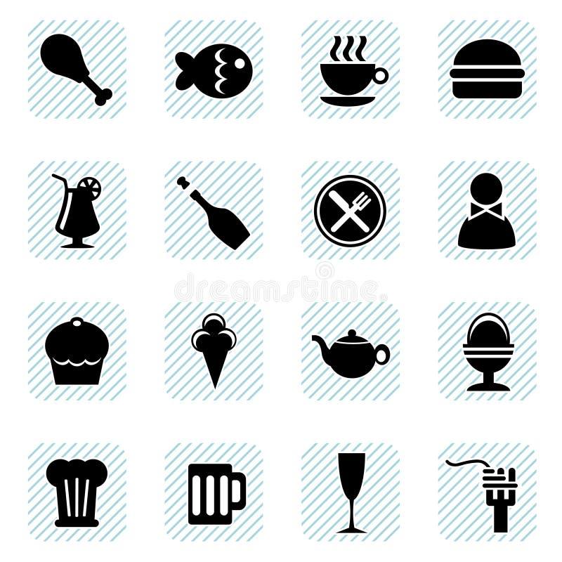 食物图标向量 皇族释放例证