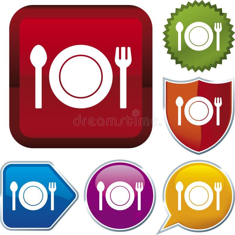食物图标系列向量 库存例证