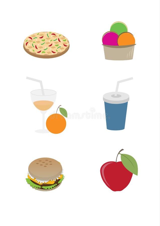 食物图标集 向量 图库摄影