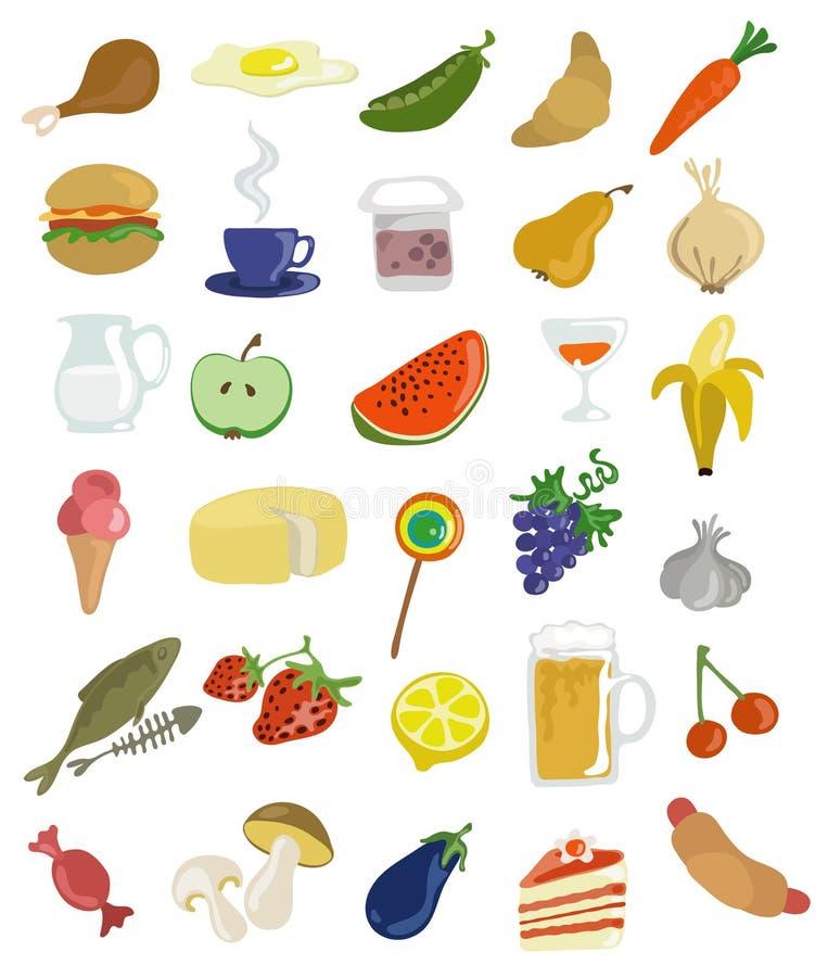 食物图标 免版税库存图片