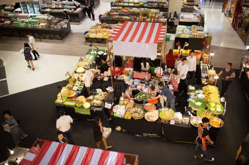 食物在中央节日清迈的促进地区 图库摄影