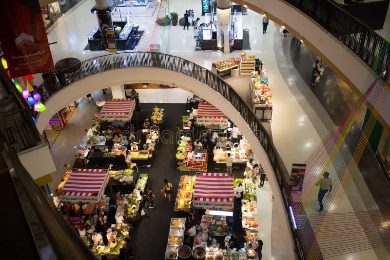 食物在中央节日清迈的促进地区 库存照片