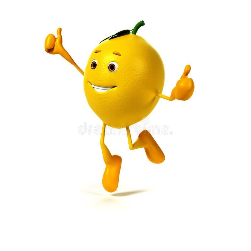 食物字符-柠檬 向量例证