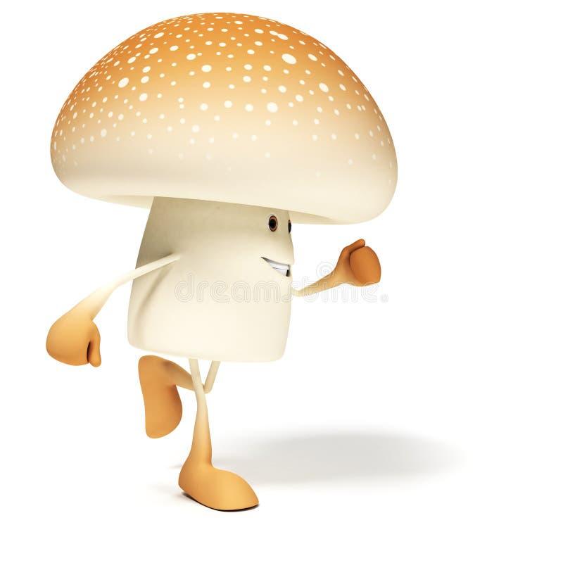 食物字符-蘑菇 皇族释放例证