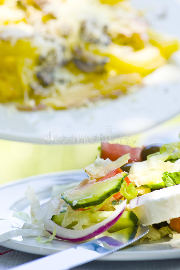 食物希腊 库存照片