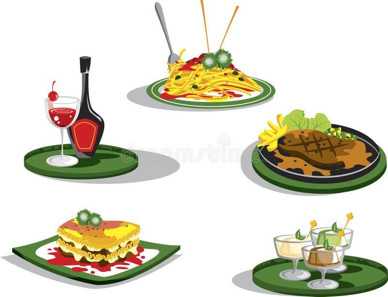 食物意大利语 向量例证