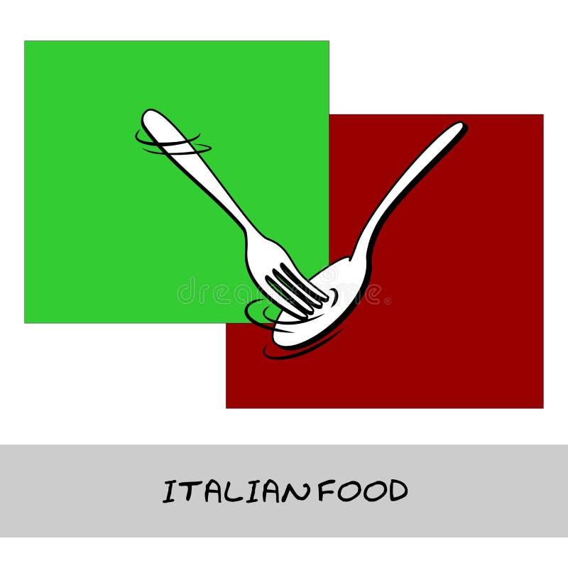 食物意大利语 库存例证