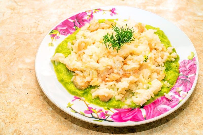 食物意大利滋补意大利煨饭海鲜鲜美传统 库存图片