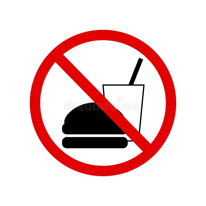 食物或饮料不允许标志 向量例证