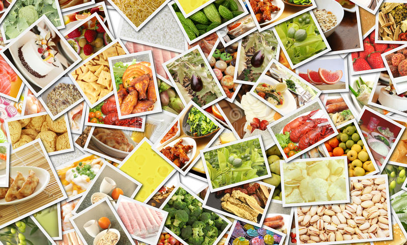 食物拼贴画 图库摄影