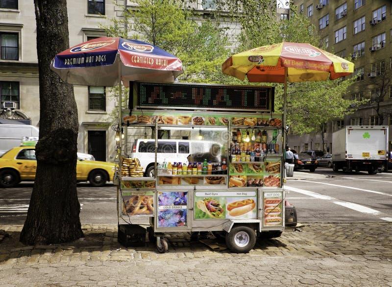 食物推车,曼哈顿,纽约 库存图片