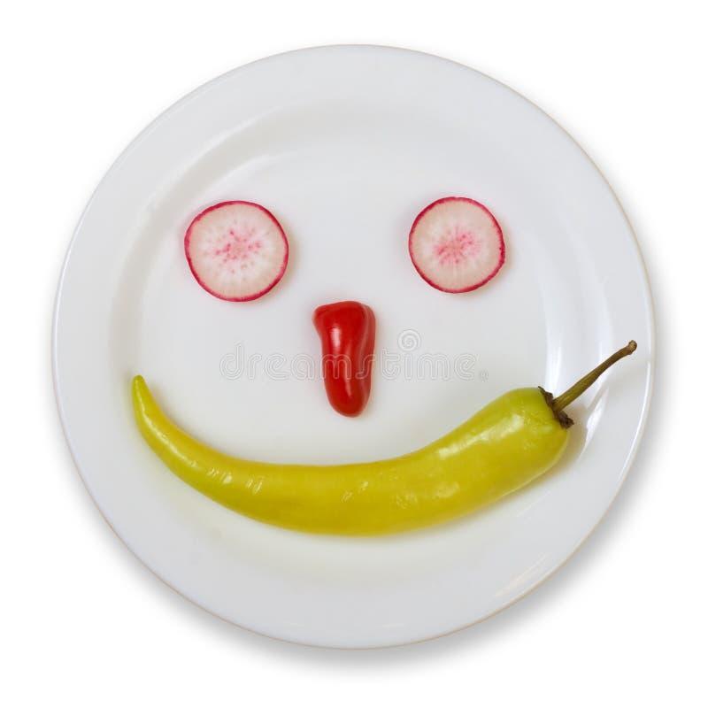 食物新面带笑容 库存图片