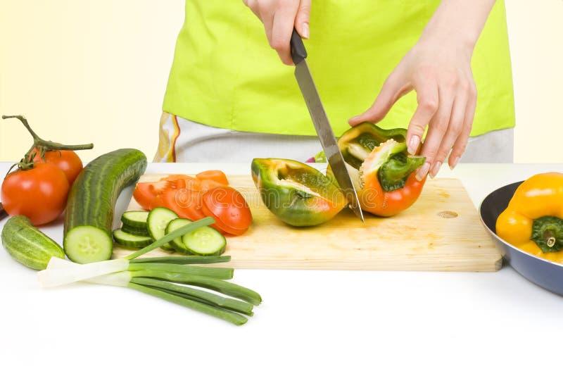 食物新鲜的准备的蔬菜 库存图片