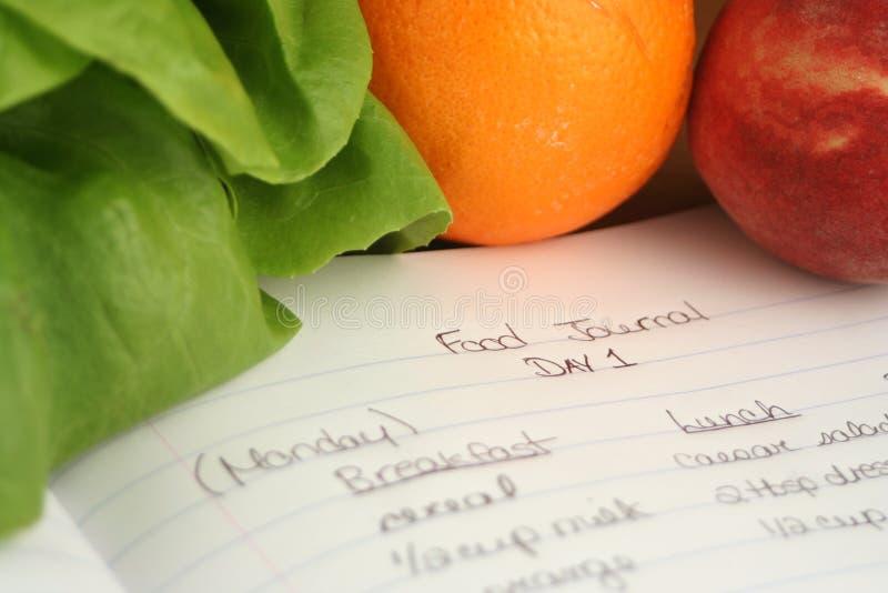 食物日记帐 图库摄影