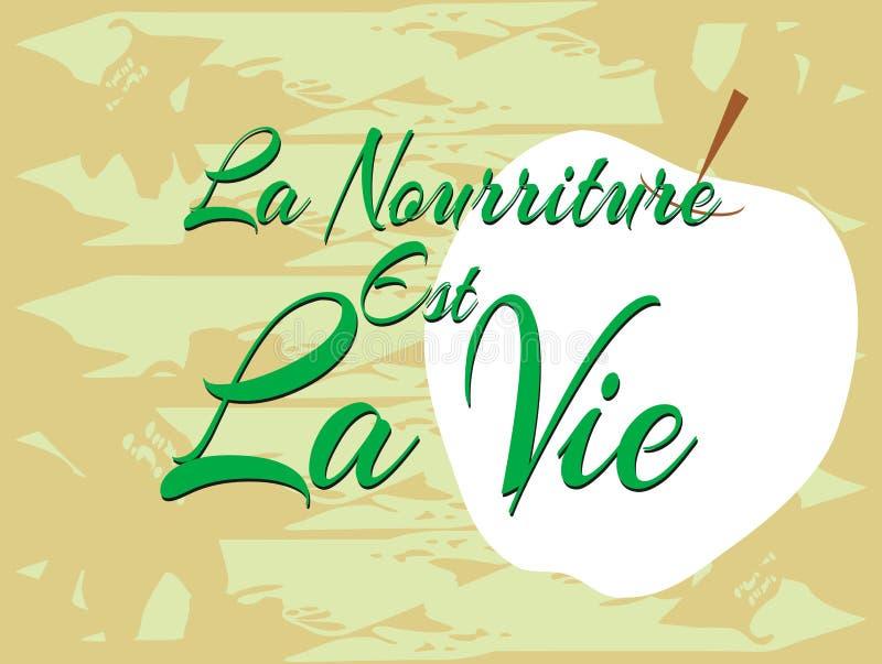 食物是生活用法语 皇族释放例证