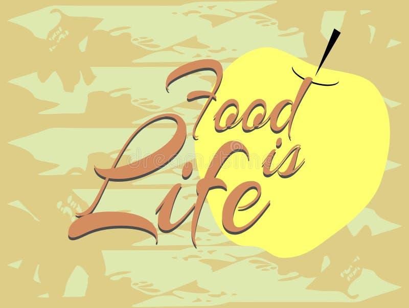 食物是生活用英语 皇族释放例证