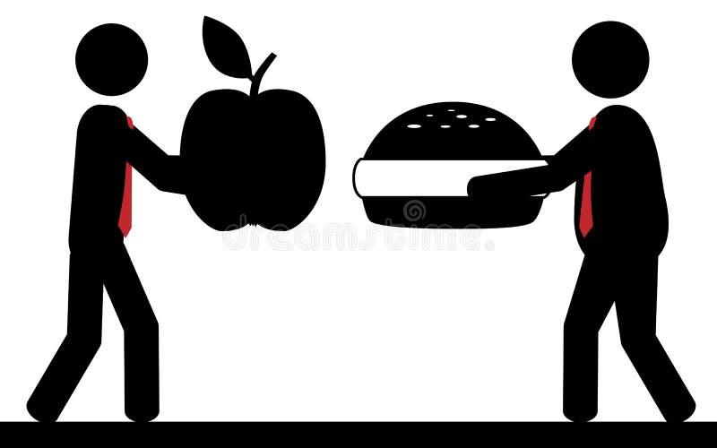 食物是生活 向量例证