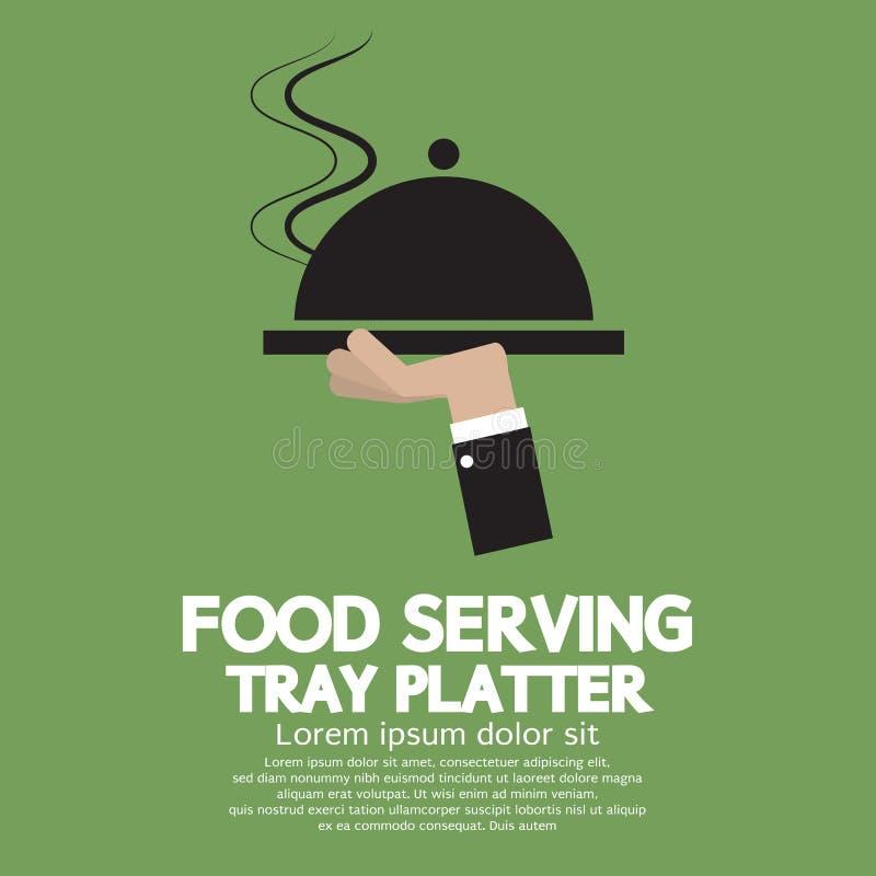食物服务盘子盛肉盘 库存例证