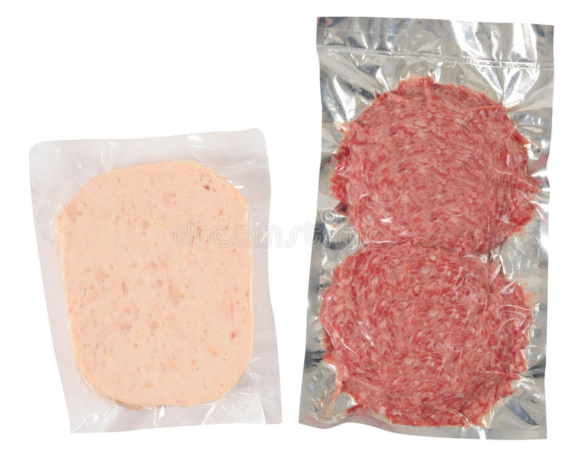 食物查出的包装 图库摄影