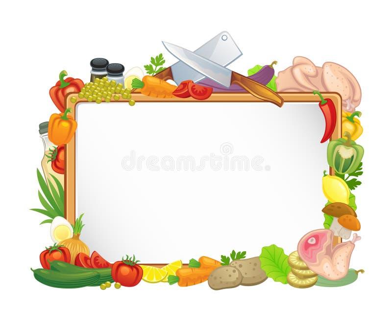 食物框架 库存例证