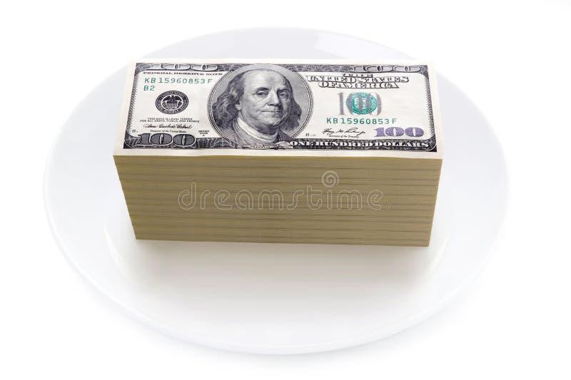 食物概念的价格 免版税库存图片