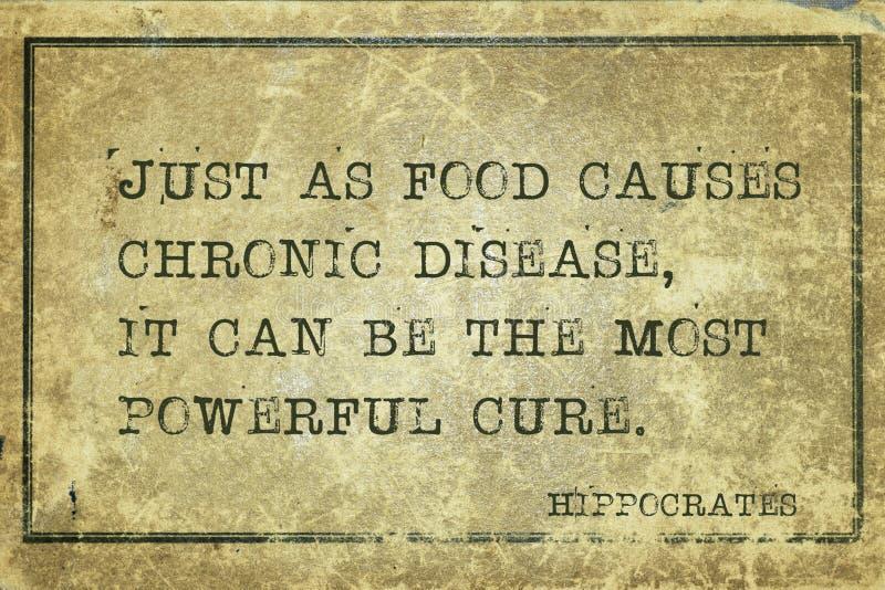 食物治疗希波克拉底 免版税库存图片