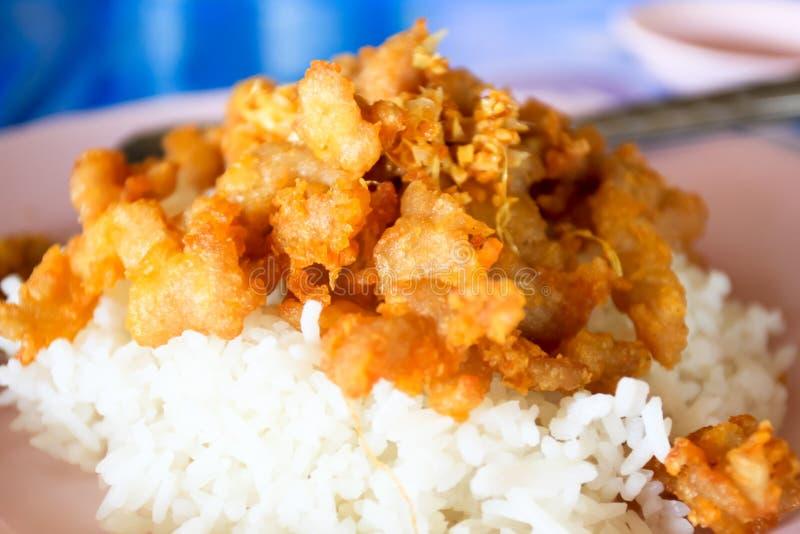 食物泰国炒饭的虾 免版税库存照片