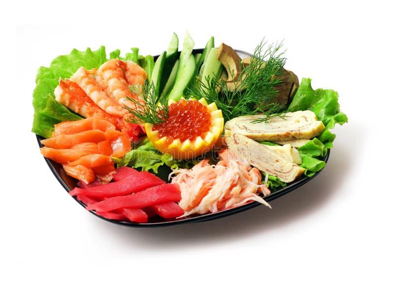 食物混合海运蔬菜 图库摄影