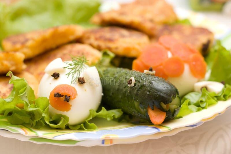 食物滑稽的婴儿 免版税图库摄影