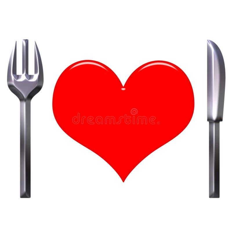 食物爱 库存例证