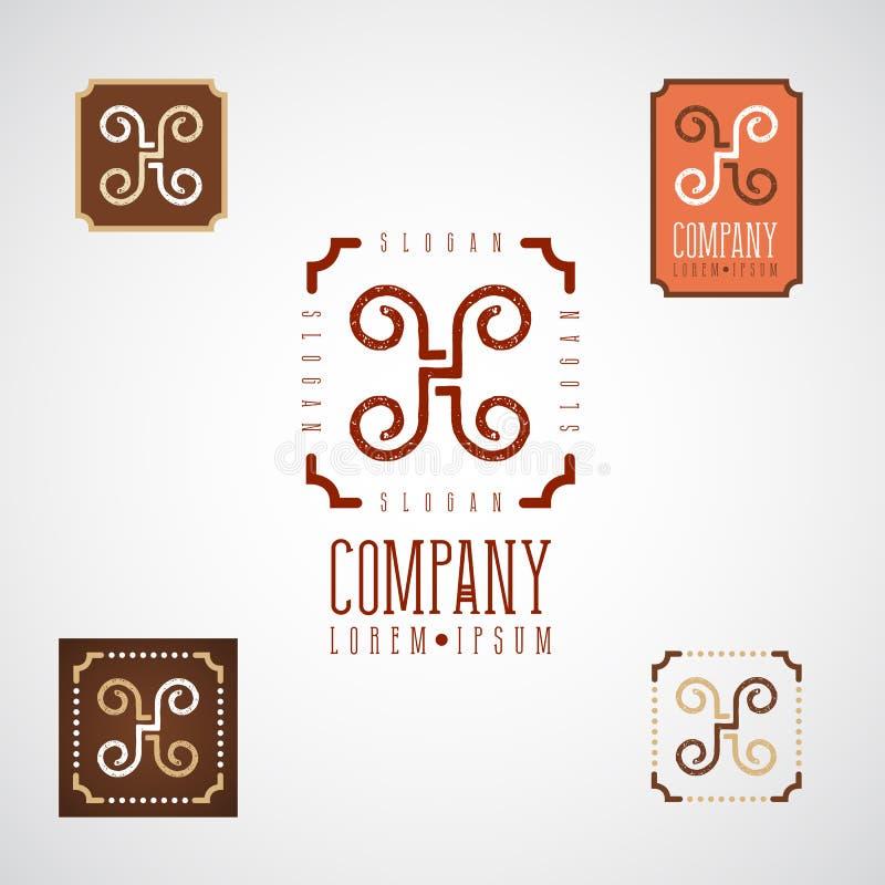食物的,咖啡馆,餐馆,糖果商典雅的装饰商标 免版税库存图片