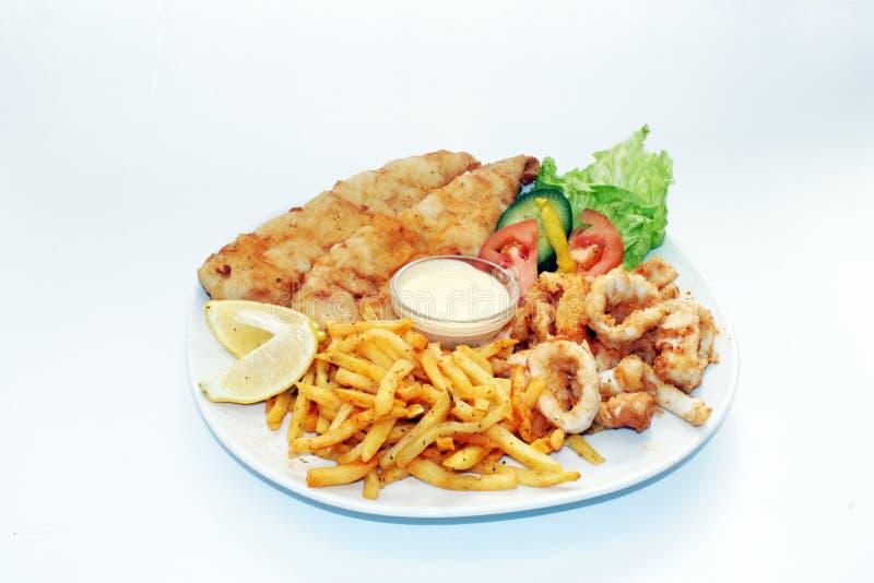 食物盛肉盘海运 库存照片