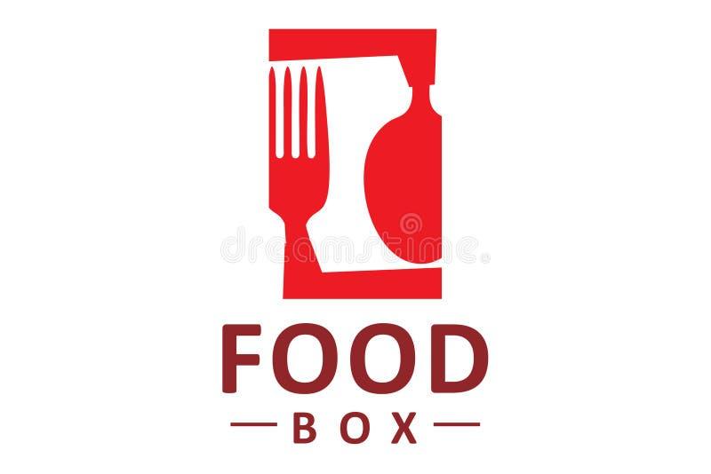 食物箱子商标 皇族释放例证