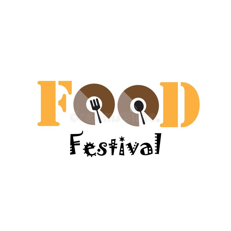 食物节日商标传染媒介模板设计例证 皇族释放例证