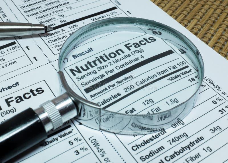 食物营养事实  库存照片