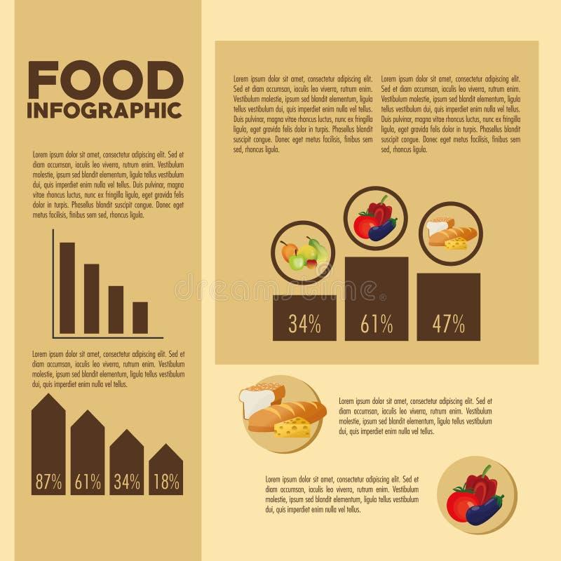 食物设计 Infographic象 五颜六色的例证 皇族释放例证
