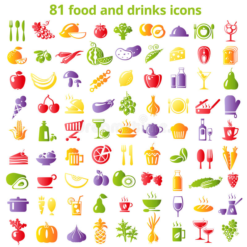 81食物象 向量例证