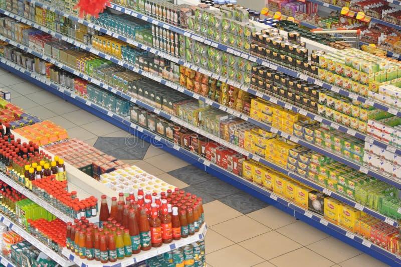 食物超级市场 库存图片