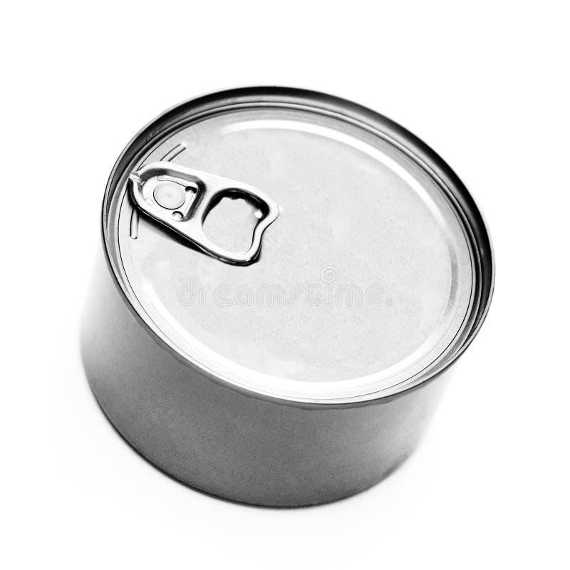 食物锡罐盒盖或基地  库存图片
