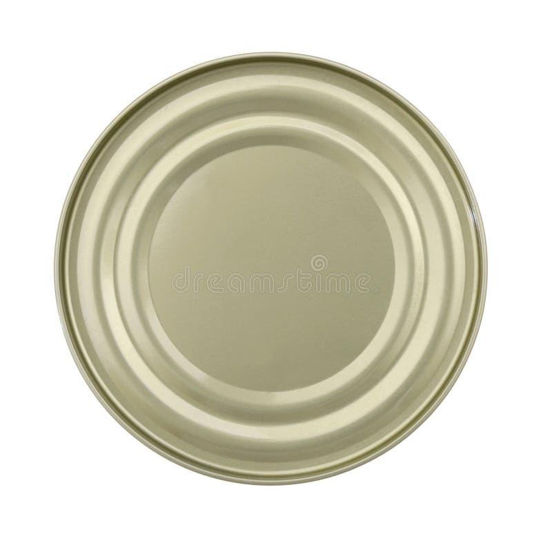 食物锡罐盒盖或基地  免版税图库摄影
