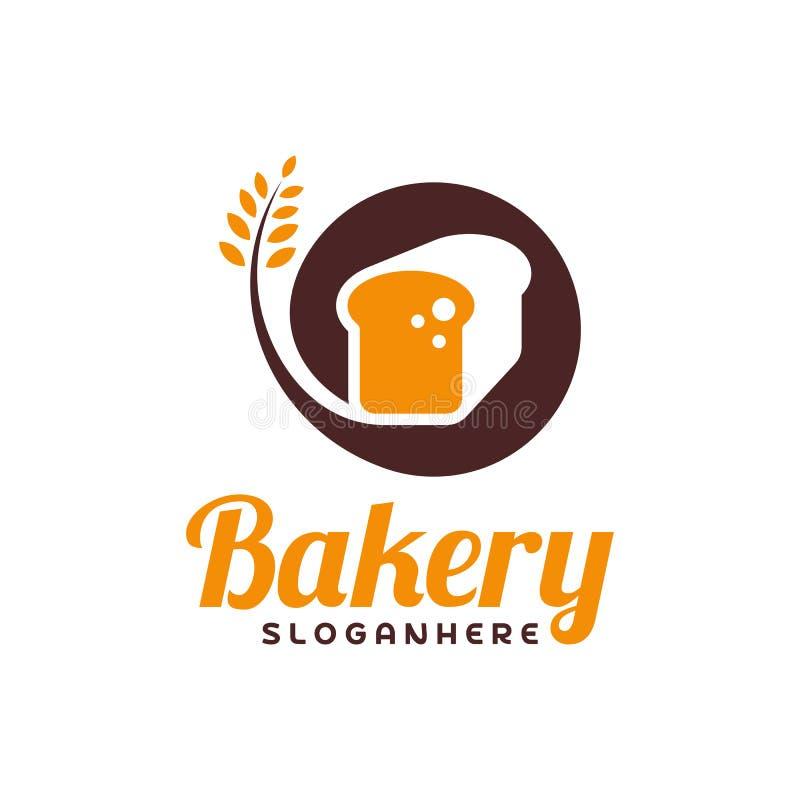 食物面包商标传染媒介 面包店象征设计 食物商标传染媒介模板 库存例证