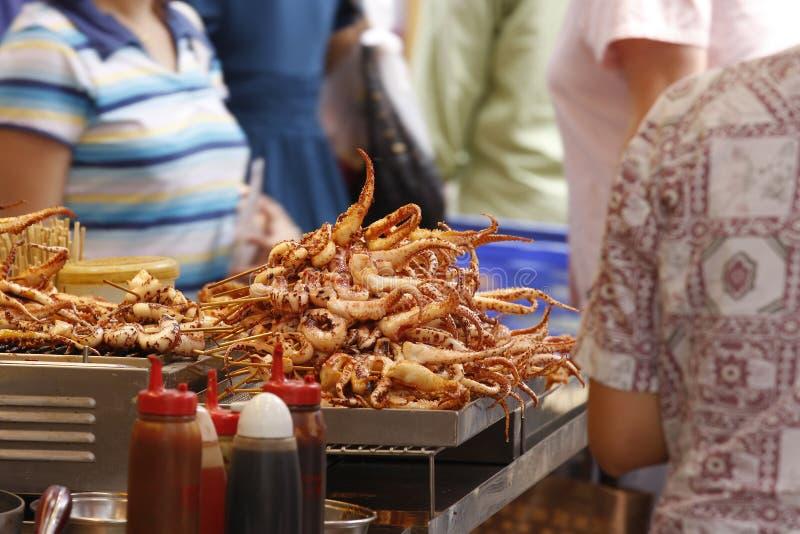 食物香港街道 免版税库存照片