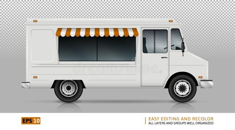 食物从右边的卡车视图 皇族释放例证