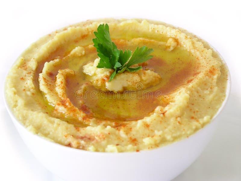 食物hummus黎巴嫩人 库存照片